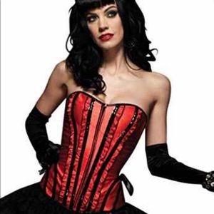 Leg Avenue red Betty ruffle corset bustier-Large
